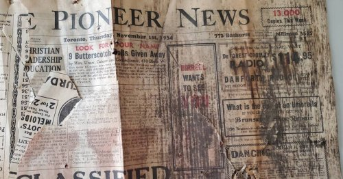 Toronto man finds a piece of history underneath the floor of his home