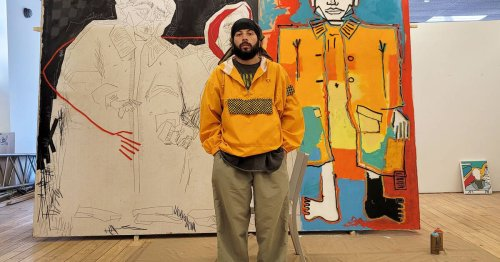 This artist has been compared to Basquiat and is blowing up in Toronto right now