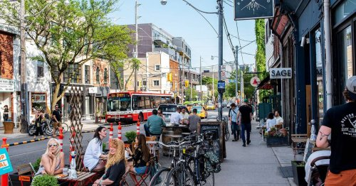 This is what patios in Toronto looked like on the first day of reopening after lockdown