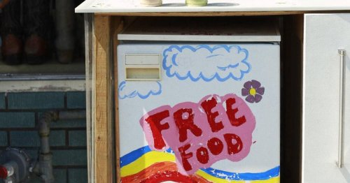 A neighbourhood depot for free food had to be shut down after somebody complained