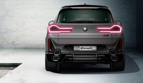BMW XM render shows new exhaust layout and sleek taillights