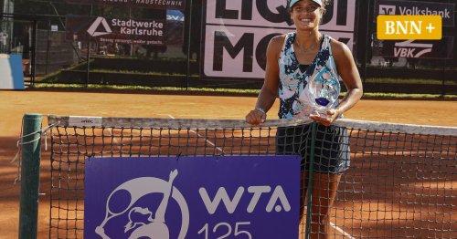 WTA-Turnier in Karlsruhe: Kurzschläferin Sherif schlägt sich durch und feiert fast perfekten Sonntag