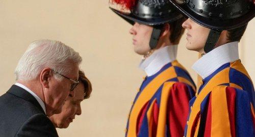 Papst empfängt Bundespräsident Steinmeier zu Privataudienz