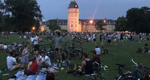 Polizei räumt erneut Karlsruher Schlossgarten: So lief der Einsatz ab