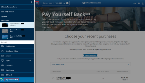 Why I Redeemed 1/3 of my Chase Ultimate Rewards Points with the Pay Yourself Back Feature