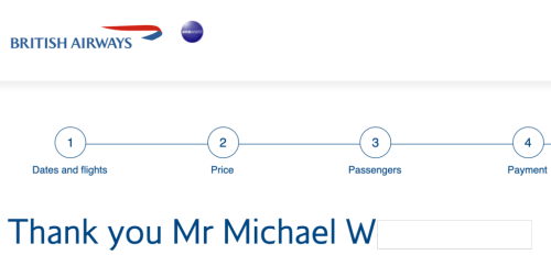 I Used 72,000 British Airways Avios For Flight Which Costs $1,279.24