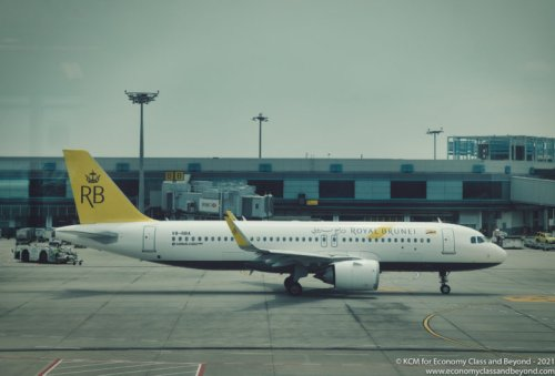 Airplane Art: Royal Brunei Airlines Airbus A320neo at Singapore Changi Airport - Economy Class & Beyond