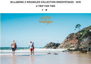 Win A Trip For 2 To Malibu, California + $500 Billabong Gift Voucher!