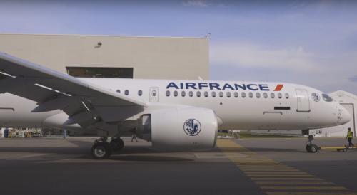 L'Airbus A220 d'Air France fait son roll-out à Mirabel !
