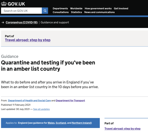 Entry into the United Kingdom rules change for US and EU Visitors now live for Vaccinated Travellers