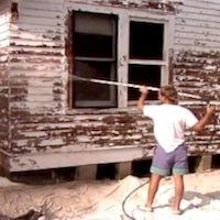 How To: Remove Exterior Paint with a Pressure Washer
