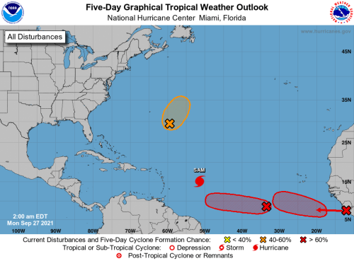 HURRICANE CENTER: Two New Systems Southeast Of Florida May Become Victor, Wanda
