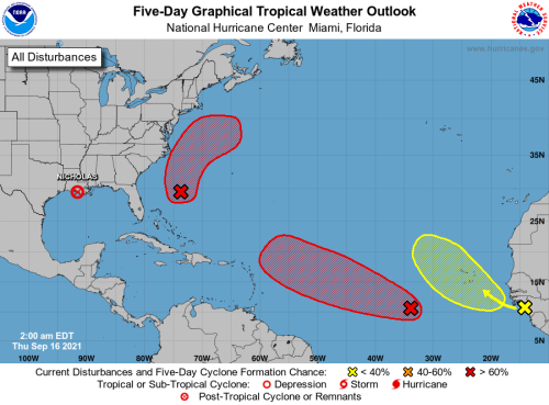HURRICANE CENTER: Three Systems Forming East Of Florida Thursday