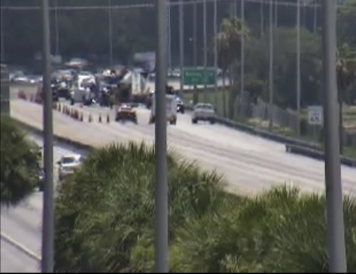 Florida's Turnpike Remains Closed, Tractor Trailer Into Canal In Boynton Beach