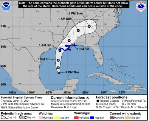 TROPICAL STORM WARNING: Florida In Forecast For Latest System