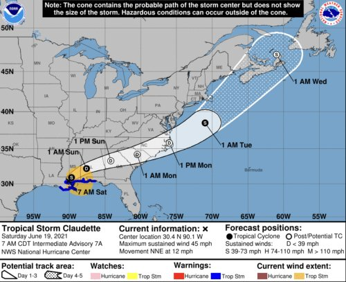 CLAUDETTE FORMS: Tropical Storm Battering Coast, Florida In Warning Zone