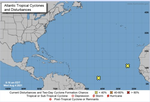 UPDATE: Hurricane Center Now Says Two Systems Forming