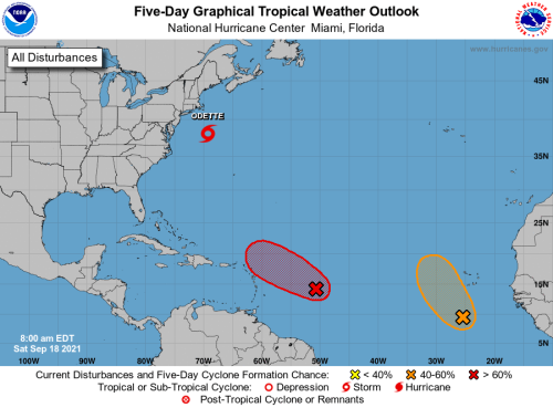 HURRICANE CENTER: Odette Forms, Expect Peter Later Today East Of Florida