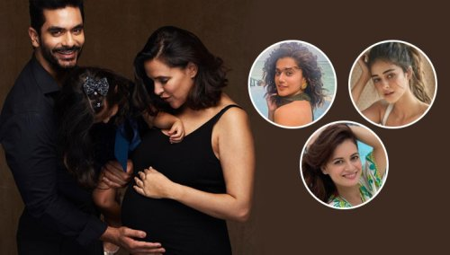 Neha Dhupia announces second pregnancy: Taapsee Pannu, Ananya Panday, Dia Mirza and others shower love | Bollywood Bubble
