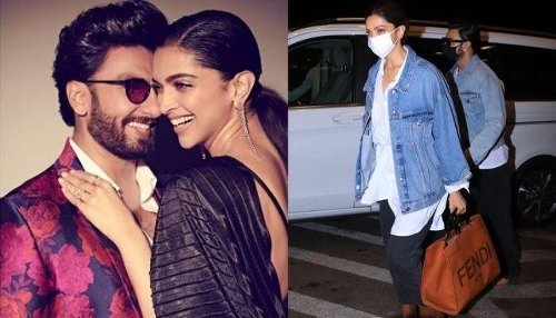 Deepika Padukone And Ranveer Singh Twin As They Travel Amidst 'Janta Curfew', Her Bag Costs In Lakhs