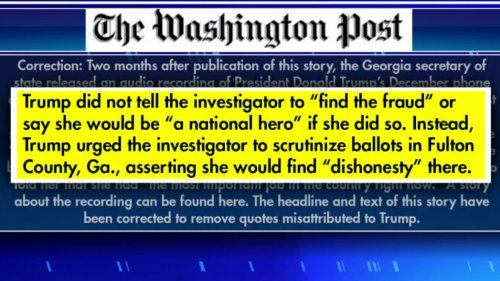 Gutfeld on the Washington Post admitting to misquoting Trump