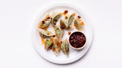 Pea and Ricotta Potstickers With Homemade Dumpling Wrappers