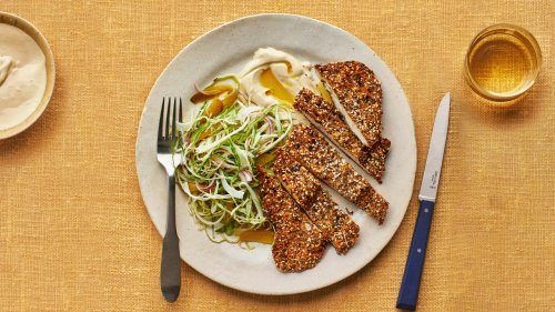 Za'atar Chicken Cutlets With Cabbage Salad