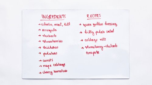 A Fridge Whiteboard Will Help You Cut Down on Personal Food Waste