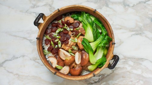 Bo Zai Fan (Chinese Chicken and Mushroom Clay Pot Rice)