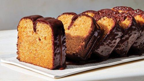 Sweet Potato Loaf Cake With Dark Chocolate Ganache