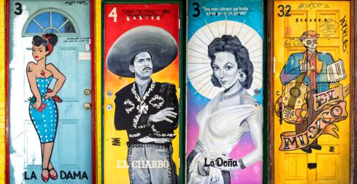The Lotería doors in Pilsen speak to the neighborhood's past and present