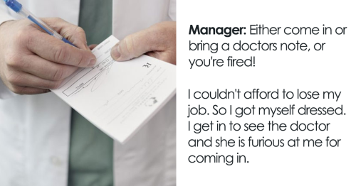 """Doctor Writes Cruel Manager """"The Most Passive-Aggressive Note"""" To Sign Off Their Employee For 2 Weeks Instead Of 2 Days"""