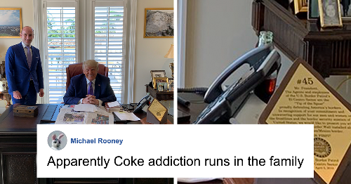 Pic Of Trump Hiding Coke Bottle After Announcing Coca-Cola Boycott Goes Viral, People Respond With 38 Funny Memes And Jokes