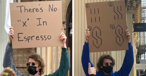 'Dude With Sign' Has 7.4 Million Followers For Protesting Annoying Everyday Things With Funny Signs (40 New Pics)