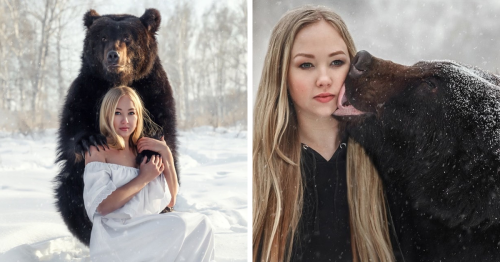 Woman Saves A Starving Bear From A Zoo, And They're Best Friends Now
