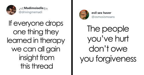 People Are Sharing The Best Things They Learned In Therapy So That Everyone Can Learn Them For Free (30 Tweets)