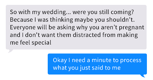 Bridezilla Tells Her Friend She Can't Come To Her Wedding Because She Might Steal Her Thunder After Her Stillbirth