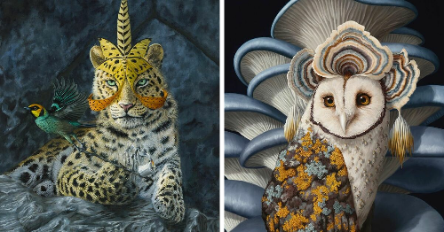 This Hawaiian Artist Makes Dream-Like Oil Paintings That Capture The Fierce Beauty Of Majestic Wildlife (72 Pics)