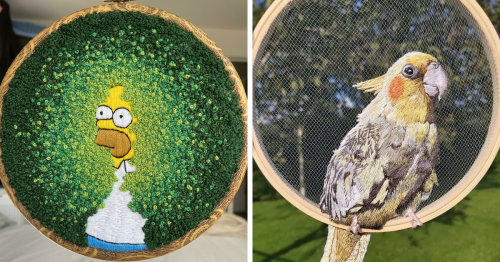 This Online Community Invites Embroiderers To Show Off Their Work, And Here Are 127 Of The Best Ones