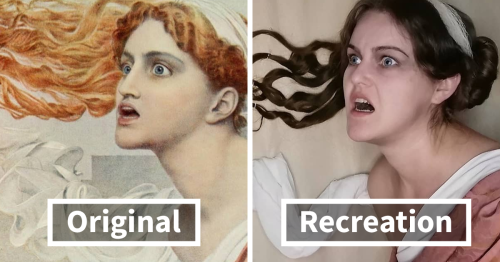 Woman Decides To Recreate One Classical Painting Per Day, Does An Awesome Job (124 Pics)