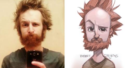 Illustrator Turns Strangers Into Anime Characters