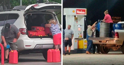 34 Pics That Best Illustrate The Gas Hoarding Madness Sweeping Over The US