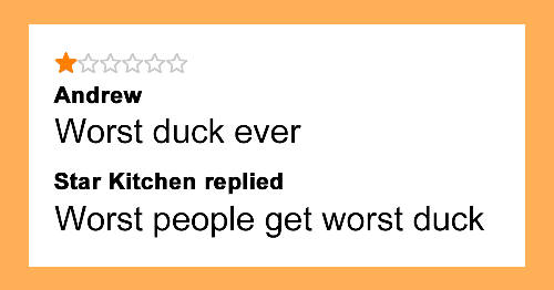 81 Times People Left Takeaway Restaurants Bad Reviews And Unexpectedly Received Their Replies