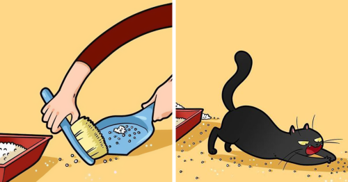Artist Illustrates Hilarious Moments In The Life Of Every Cat Owner (30 New Pics)