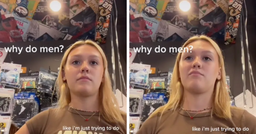 Uncomfortable Woman Films As Male Customer Keeps Hitting On Her Despite Her Clear Lack Of Interest