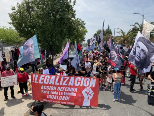 Police brutality takes center stage at Boyle Heights May Day rally