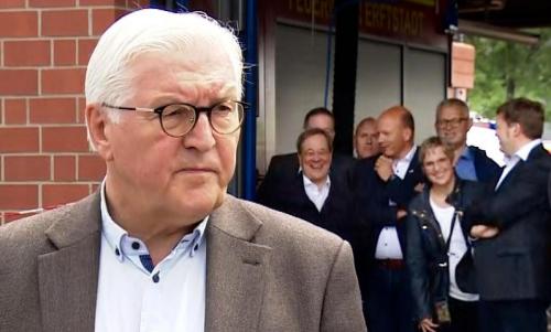 """""""Das war unangebracht von mir"""" – Steinmeier entschuldigt sich, dass er über Flutopfer redete, während Laschet Witze erzählte"""