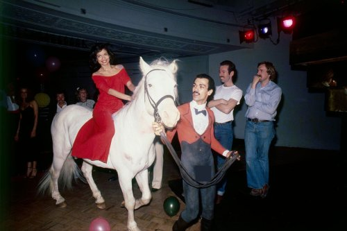 On the Night of May 2, 1977, Bianca Jagger Rode Into Her 27th Birthday at Studio 54 on a Horse