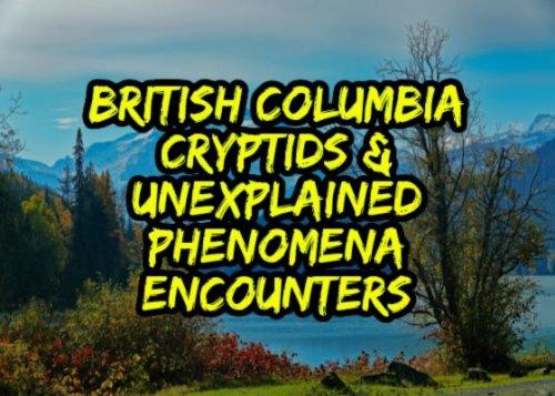British Columbia Cryptids & Unexplained Phenomena Encounters