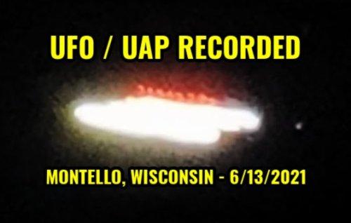 UFO / UAP Recorded Over Montello, Wisconsin - 6/13/2021